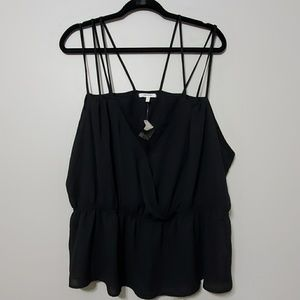 Maurices plus size 3 3X black strappy tank